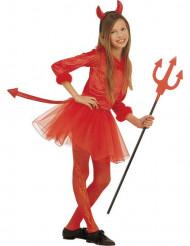 Costume diavoletto tutù bambina Halloween