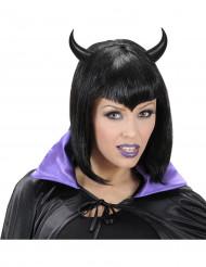 Corna da diavolo di colore nero di Halloween per adulti