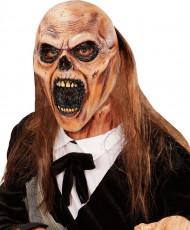 Maschera zombie da becchino con capelli per adulto