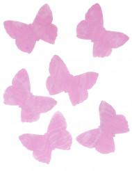 50 farfalle in organza fucsia