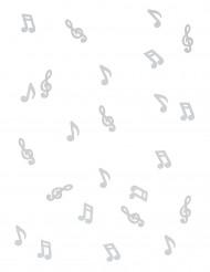 24 Note musicali bianche di legno