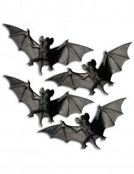 4 pipistrelli di plastica per Halloween