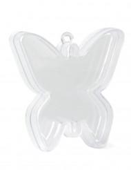 4 Scatole trasparenti farfalla 7 cm