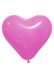 12 palloncini a forma di cuore Fucsia