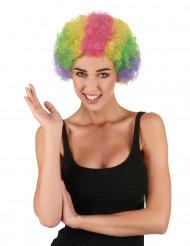 Parrucca riccia colorata per adulti