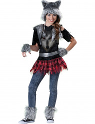 Costume completo da lupo bambina