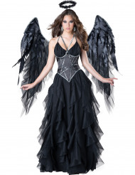 Costume Angelo Nero donna Halloween <br />- Premium