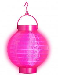 Lanterna luminosa di color rosa