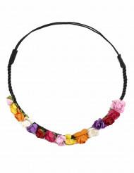 Coroncina con fiori colorati per donna