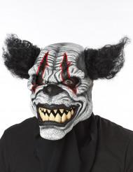 Maschera clown spaventoso con capelli neri