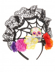 Cerchietto-corona di fiori Dia de los Muertos Halloween: