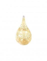 Contenitore a goccia d'acqua trasparente con glitter dorati