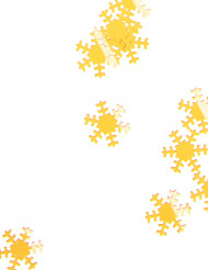 Coriandoli dorati a forma di fiocchi di neve