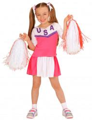Costume da ragazza pon pon rosa per bambina