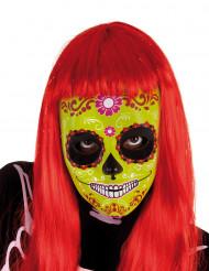Maschera di Halloween e Dia de los Muertosper bambina