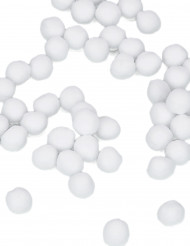 50 mini pompon bianchi