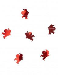 10 grammi di coriandoli rossi da tavola Babbo Natale