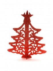 Albero di Natale segnaposto di colore rosso