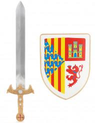 Spada e scudo da vero cavaliere per bambino