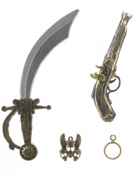 Kit accessori da pirata per bambino