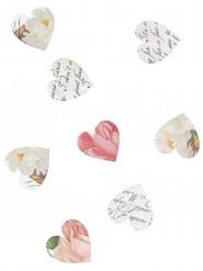 Coriandoli a forma di cuore di carta