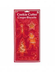 5 formine per biscotti tema Natale