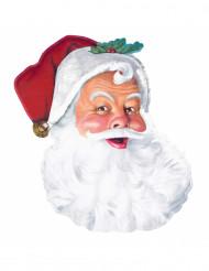 Decorazione murale con Babbo Natale in cartone