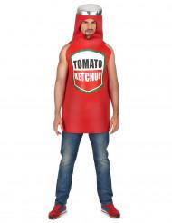 Costume bottiglia di ketchup adulto