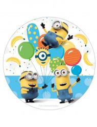 Disco di zucchero diametro 16 cm a tema Minions™