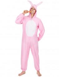 Costume Coniglio Rosa uomo