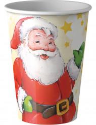 8 Bicchieri usa e getta Babbo Natale