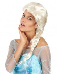 Parrucca bionda da donna con treccia lunga