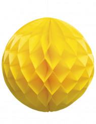 Sfera di carta a nido d'ape da 25 cm gialla