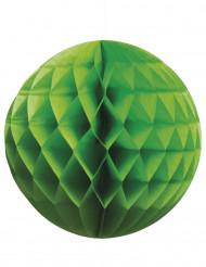 Sfera di carta a nido d'ape verde 25 cm
