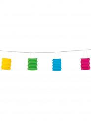 Ghirlanda composta da 8 lanterne di carta colorate