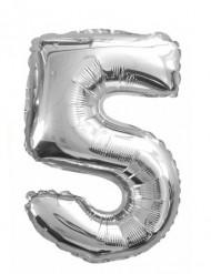 Palloncino argentato numero 5