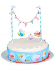 Decorazione per torte con bordo e mini ghirlanda