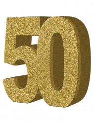 Decorazione da tavola 50 anni oro
