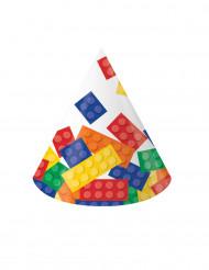 8 cappellini da festa con costruzioni colorate