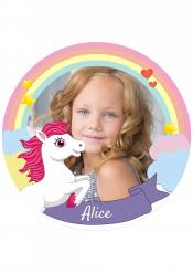Disco di zucchero personalizzabile magico pony