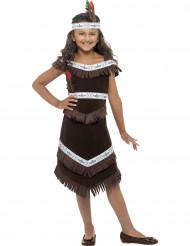 Travestimento da indiana marrone per bambina