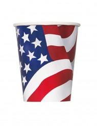 8 bicchieri di cartone Stati Uniti d'America