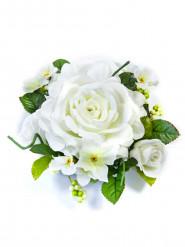Centro tavola di fiori artificiali rose bianche
