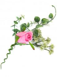 Decorazione da tavolo con rosa artificiale fucsia