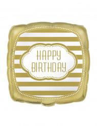 Palloncino dorato con scritta Happy Birthday