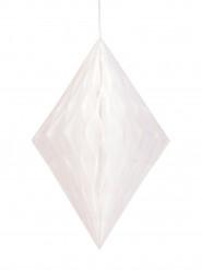 Decorazione a sospensione con trama a losanghe bianca da 35 cm
