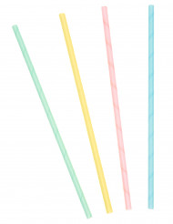 Confezione 20 cannucce in cartone colori pastello
