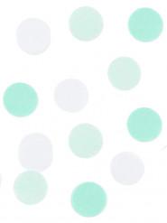 Coriandoli di carta bianchi e verde acqua