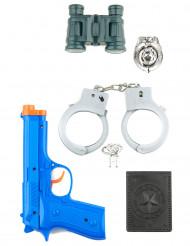 Kit di accessori bambino poliziotto in plastica