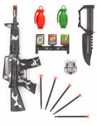 Kit militare in plastica per bambino